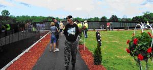 Ceremony at the Moving Vietnam Memorial Wall @ Bennett Memorial Park | Hamburg | Michigan | United States