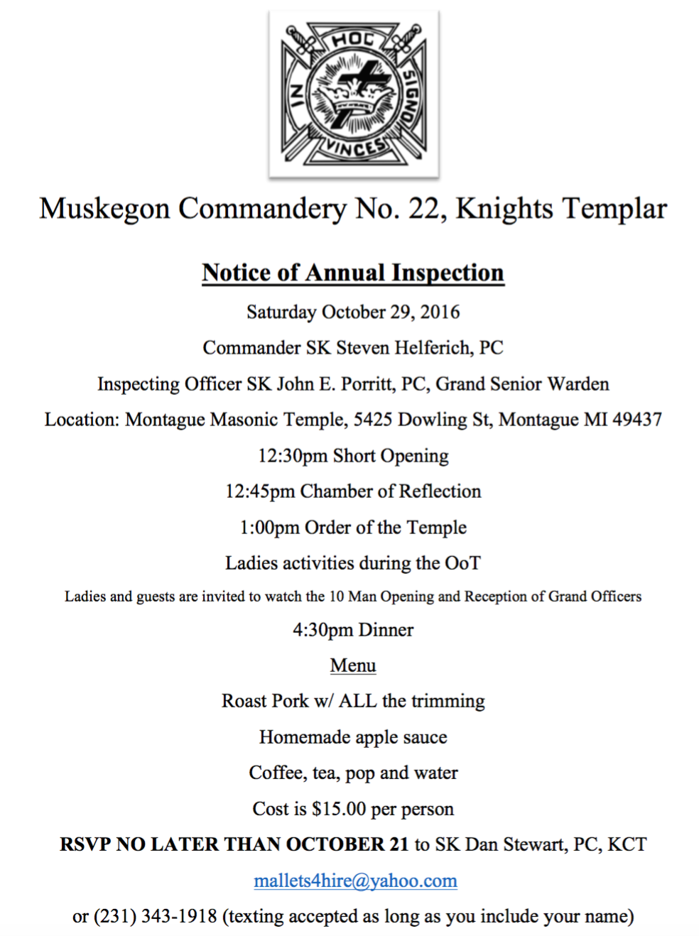 Annual Inspection - Muskegon No.22 @ Montague | Michigan | United States