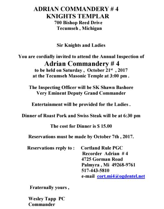 ADRIAN #4 Annual Inspection @ Tecumseh | Michigan | United States