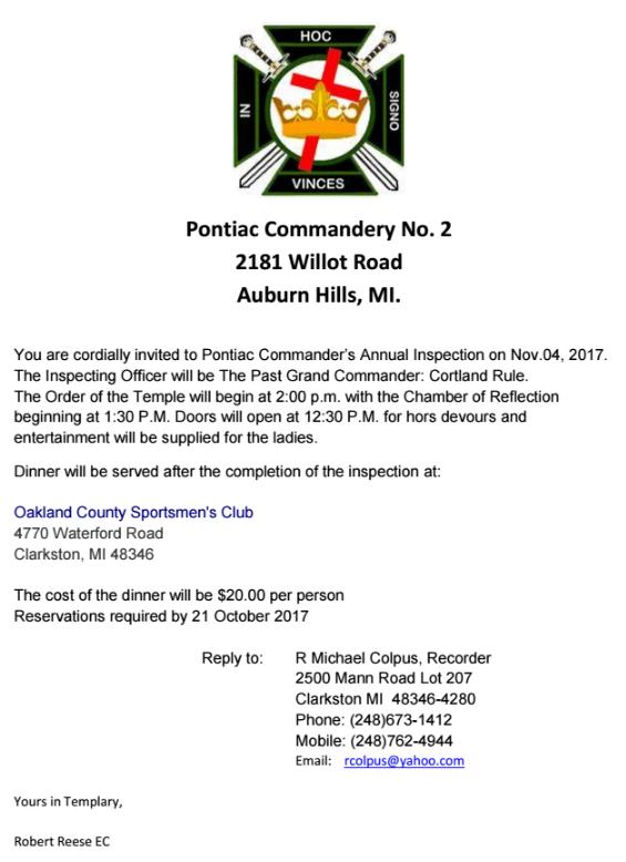PONTIAC #2 Annual Inspection @ Pontiac No.2 | Auburn Hills | Michigan | United States