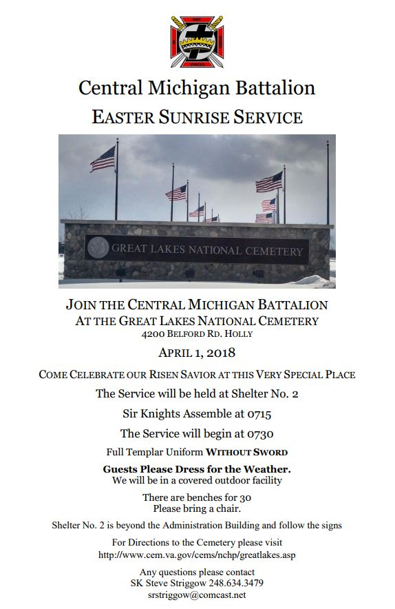 Easter Sunrise Service - Central Battalion @ Great Lakes National Cemetery | Holly | Michigan | United States