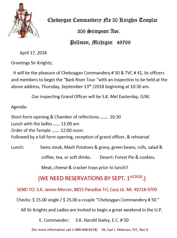 Cheboygan No.50 and Traverse City No.41 Annual Inspection @ Pellston | Michigan | United States